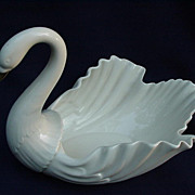 Vintage Lenox Porcelain Swan with Gold Beak