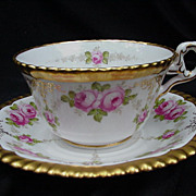 Copeland 19th C. Cup and Saucer Retailed by Davis, Collamore & Co.