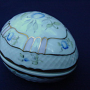 Vintage Hand-Painted Hungarian Porcelain Egg, Hollohaza