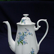 Royal Albert, English Bone China Coffee Pot, Forget-Me-Not