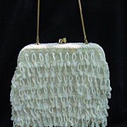 SALE Vintage Hand-Made Beaded Evening Purse, Hong Kong