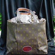 Vintage Vespucci Genuine Saddle Leather Tote, Lined Interior, Reinforced Handles