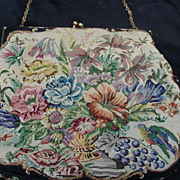 REDUCED Vintage DeLill Petit Point Hand Bag
