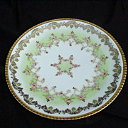 L S & S Limoges, France Porcelain Plate, Highly Decorative