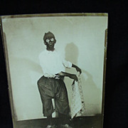 1930s Photo of Vaudevillian Performer in Black Face