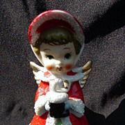 Vintage Porcelain Christmas Angel, Made in Japan