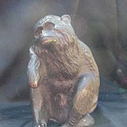 "Vintage Monkey Figure, ""Hear No Evil"", Bronze Finish"
