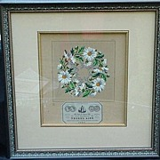 19th C. Hand-Colored Print of Needlepoint Pattern, Maison Sajou, Paris