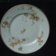 Haviland's Autumn Leaf Salad or Dessert Plate, Gold Rim