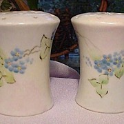Hand-Painted German Porcelain Salt & Pepper Shakers, 1930s