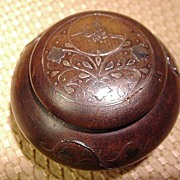 Inlaid Wood Trinket Box, Silver, Age Unknown, Art Nouveau Style