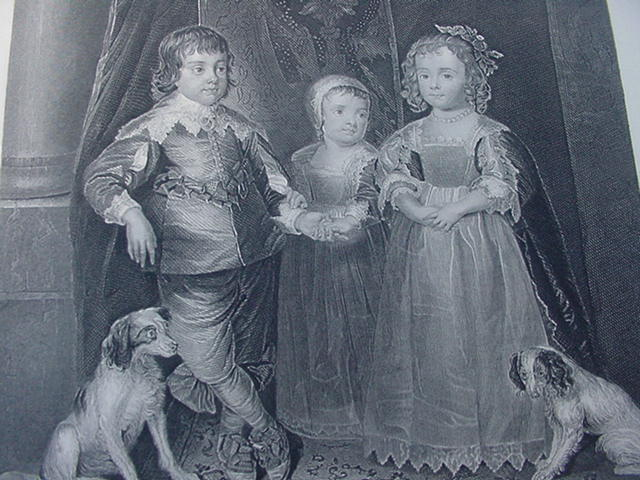 A. van Dyke Engraving of Children of Charles I