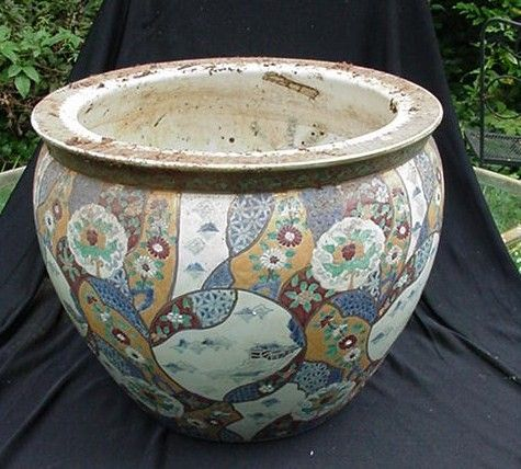 Huge Vintage Oriental Jar with Raised Surface Decoration
