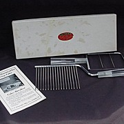 Vintage Boxed Set of Chrome Plated Cheese Slice and Cake Breaker, Lucite Handles