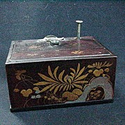 Japanese Lacquerware Cigarette Dispenser, Stamped Chinese Emporium