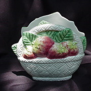Fitz and Floyd 1990 Strawberry Basket Theme Napkin Holder