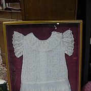 Edwardian Christening Dress with Alternating Panels of Floral Laces