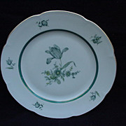 Set of Eight Royal Bayreuth Luncheon Plates with Tulips