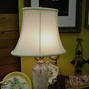 Brilliant Period Cut Glass Lamp