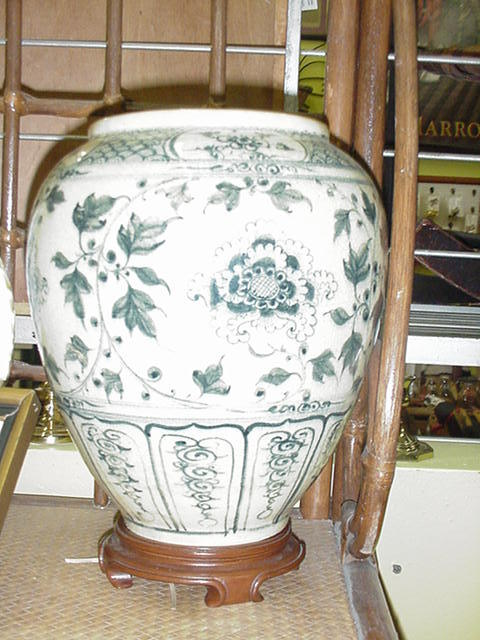 Vintage Oriental Jar, Underglaze Blue Decoration