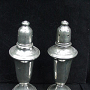 Empire Pewter Glass Lined Salt and Pepper Shakers