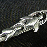 Trident Style Sterling Serving Fork with Snowdrops on Handle