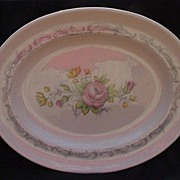 Large English Bone China  Serving Platter, Royal Doulton, Chantilly Rose