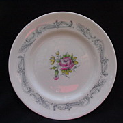 English Bone China Dessert or Salad Plates, Royal Doulton Chantilly Rose
