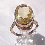 9kt Rose Gold Vintage Citrine Ladies Ring