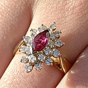 "14kt Vintage Ruby/Multi Diamond ""ALL OCCASION"" Ladies Ring"