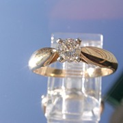14kt Vintage Solitaire Diamond Ladies Ring