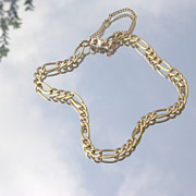 18kt Unisex Vintage Link Bracelet