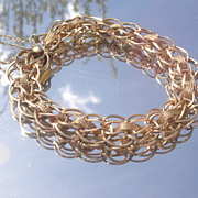 14kt Vintage Circular Link Ladies Bracelet