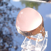 9kt Rose Gold/Rose Quartz Ladies Ring