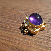 14kt Vintage Regal Amethyst Slide Clasp