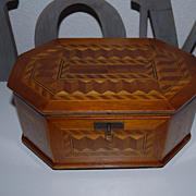Fabulous Marquetry Inlaid Jewelry Box