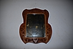 An Antique Folk Art Fine Carved Wood Wall Mirror