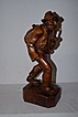 A Large Black Forest Fine Carved Wooden Figure , Man with Pipe