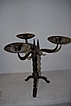 An Antique Wrought Iron 3 light Candelabra