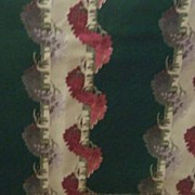 SALE GORGEOUS Vintage BARKCLOTH Textile Fabric Garlands of Flowers Mint Condition!