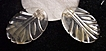 Vintage LUCITE Dress Clips Pair Carved Very Deeply Leaf Motif