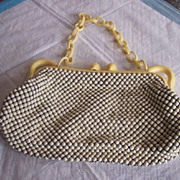 SALE Vintage WHITING AND DAVIS Purse Alumesh Handbag Mint!