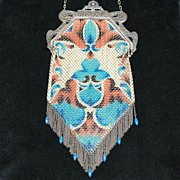 Great Mandalian Enamel Mesh Purse Fringe and Drops