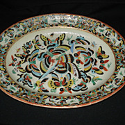 "Chinese export 14 5/8"" butterfly platter"