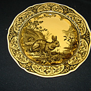 "Early 9 3/8"" wedgwood rabbit plate"