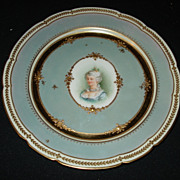 "Early 8 3/8"" dresden portrait plate"