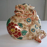 "Rare early 2 5/8"" japanese satsuma foo dog"