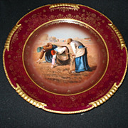 "9 5/8"" Royal vienna portrait plate"