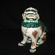"Early 7 3/4"" japanese kutani foo dog"