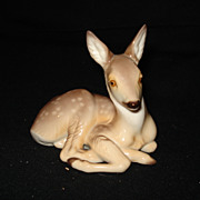 Nymphenburg colored porcelain deer